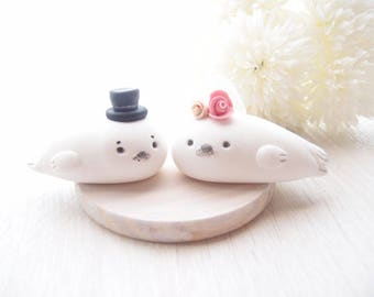 Custom Wedding Cake Toppers - Seal with base
