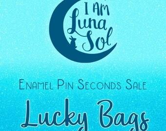Enamel Pin Seconds Sale Lucky Bags (3 Pins) // hard enamel, surprise, mystery, lapel Pin, badge, brooch, kawaii, cute