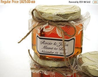 SALE 15% Off Ends Sunday 125 Rustic Barn Wedding Honey Jar Favors, Barn Honey Rustic Favors, Mini Rustic Glass Favors, Rustic Mason Jar Favo
