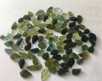 Green tourmaline leaves wholesale lot weight 52 carats pieces 98