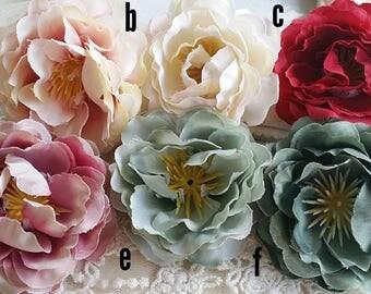 5 cm Forest Series Rose Silk Flower/wedding/ Flower Wreath /Flower Bouquet/ Brooch /wedding /Artificial Flowers Findings (.n)