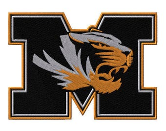Missouri Tigers Embroidered Iron On Patch