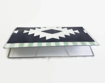 Checkbook Cover, Vinyl Checkbook Cover, Boho Checkbook cover, Checkbook Holder, Tribal, Checkbook Duplicate
