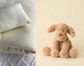 Pastel Yellow fuzzy Cuddle fleece backdrop & posing pillow for newborn photography, bean bag fabric, soft with stretch
