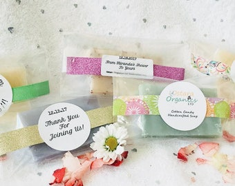Washi Wedding Party Favors, Washi Favors, Washi Shower Favors, Custom washi Favors, Custom Wedding favors, custom shower favors, bridal soap