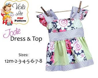 Jodie Girl's Dress Patterns, Toddler Dress Patterns, Girl's Sewing Patterns, Girl's pdf Sewing Pattern, Summer Top Pattern, Dress Patterns