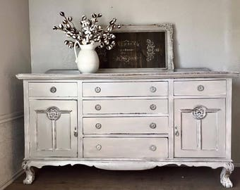 Antique Painted English Buffet