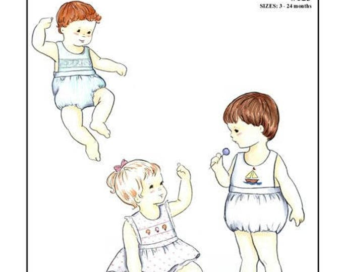 Baby Playsuit / Bubble or a Skirt with Matching Panty /Smocked or Embroidered / by Creations by Michie #123
