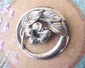 Beautiful Vintage Sterling Silver Brooch by Danecraft