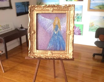 Angel Dollhouse Dolls house picture framed Original Art dollhouse Collectible Miniature Art In Wax