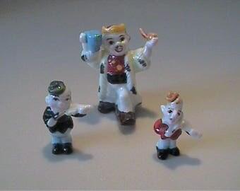 Vintage 1960's miniature bone china nursery rhyme Old King Cole set