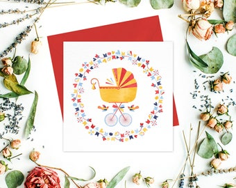 Baby Shower Greeting card / greeting cards set - Baby Shower Cards, Gender neutral cards, Birth Announcement card, Gender reveal party