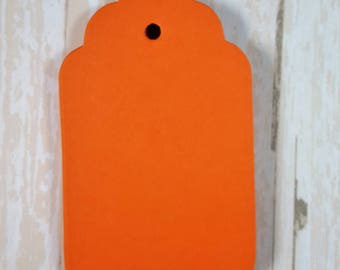 Orange Scalloped large tags, Die Cut, Embellishment, Gift Tag, Party Favor Tag,Wish tree