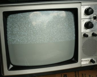 Vintage TV, Television, Television, Set Design, Hitachi 1981, Working TV, Home Decor, Living Room, Old Gaming Systems