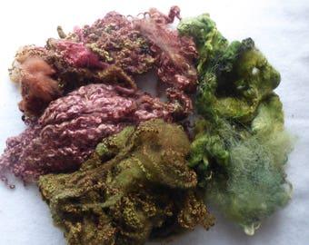 Great British hand dyed felting fleece pack - 100g - Bag 70