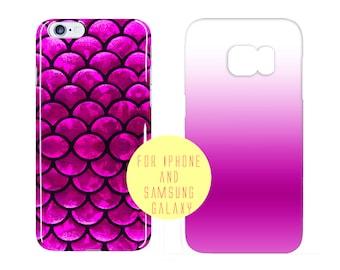Fish Scale Case Samsung Galaxy s7 Edge Case Fucsia Sea Samsung Galaxy S7 iPhone 6 Plus Case Purple Mermaid iPhone 6 Case Magenta Phone Case