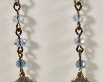 Miraculous Medal Earrings with Chinese Crystals