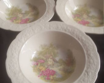 Edwin M Knowles KNO478 - 4 misc dinnerware pieces - 1934