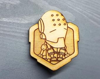 Zenyatta Overwatch Pin | Laser Cut Jewelry | Wood Accessories
