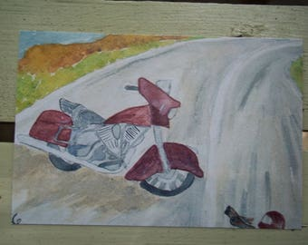 """Original Watercolor Print of """"Ready to Roll"""", 3"""" X 4.5"""" or 9"""" X 12"""""""