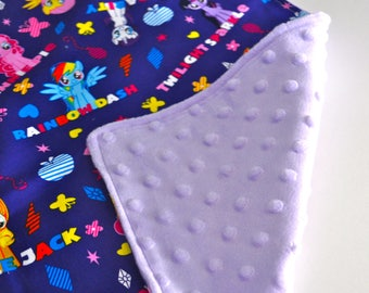 Weighted lap pad, My Little Pony weighted lap pad, Purple weighted lap pad, Weighted lap pad for girls, Minky weighted lap pad, Kids lap pad