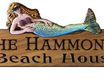 Mermaid Personalized Home Sign