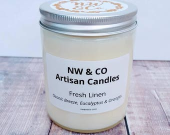 NW & Co Artisan Hand Poured luxury candle - Fresh Linen.