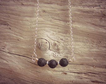 Lava Stone Diffuser Necklace • Lava Stone Jewelry • Essential Oil Necklace • Aromatherapy Jewelry • Lava Bead Necklace • Lava Jewellry