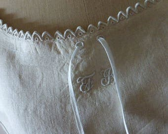 Antique French Pure Linen Nightgown,Nightdress, Chemise,  Vintage, Unworn