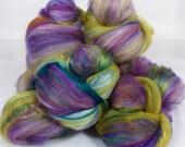 Chunky / Textured Sticklebatts - #62 - (3.8 oz.) merino, Cormo, bfl, faux cashmere, bamboo, silk, silk noil, sari silk, firestar, angelina