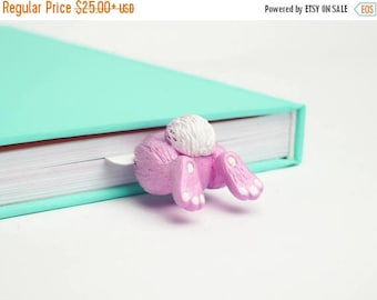 BACK TO SCHOOL 20% off // Bunny Butt bookmark// Sweet Bunny butt unusual gift for girl // Back to school gift for student, teacher //