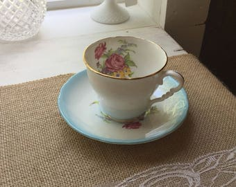 Vintage Adderley Bone China England,Floral Tea Cup and Saucer