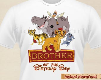 Lion Guard Brother of the Birthday Boy - INSTANT DOWNLOAD -  Birthday Boy - Lion Guard Party Favors