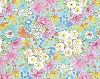 Meadow by Dena Designs for Free Spirit - Morning Glory - Pink - 1/2 Yard Cotton Quilt Fabric