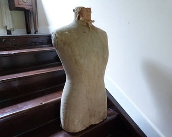 Layaway Part 4 For Joven- Antique French Mannequin Bust 1920s Tailors Dress Makers Dummy Body Only