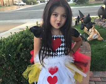 Queen of heart tutu dress