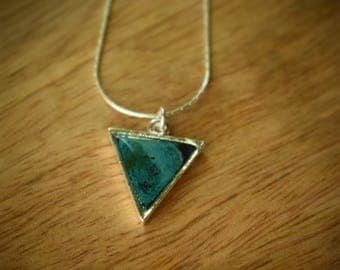 Delicate Triangle Sterling Silver Necklace