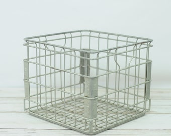 Wire Milk Crate Deans Dairy Metal Milk Crate 1993 Milk Delivery Crate
