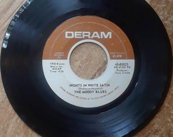 Moody Blues Nights in White Satin 45 rpm Record Vinyl Original Recording