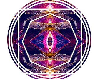 Vibrant Portal Mandala Sticker/Print