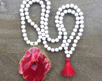 PRICE SLASHED - Final Sale-Red and White Mala