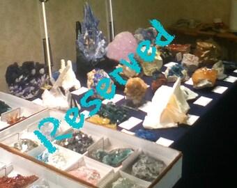 Reserved for KL  Rhodochrosite, Rare Elpidite, Natrolite on Albite Crystalline Mineral Specimen for the expert collector MSH Quebec