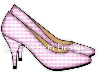 Digi Stamp  Ladies Shoes