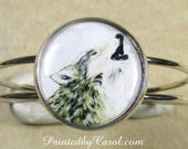 Wolf Bracelet, Wolf Jewelry, Wolf Cuff, Wolf Gifts, Twilight Fan Gifts, Jacob Fan Gifts, Gifts with Wolf, Jewelry with Wolf