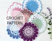 Crochet Pattern - Vintage Crochet Potholder Pattern - US, UK and Swedish terms - PDF file