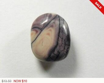 Porcelain Jasper Cabochon, 13x17x5.5 mm, Exotica and Sci-Fi stone, designer cabochon, gemstone cabochon, ring size, small cab (pj32074)