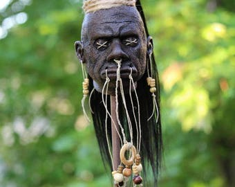Shrunken Head Tribal Maori Replica