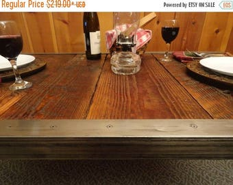 Limited Time Sale 10% OFF Industrial Dining Table, Antique Barn Wood, Raw Steel Edge, Hairpin legs, Quality, Character, Customizable