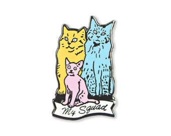 Cat Squad Enamel Pin