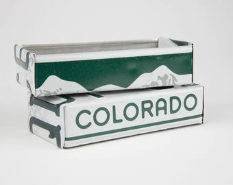 Colorado license plate box - father's day gift - gift for mom's dad's and grad's - teacher gift - graduation gift - graduation gift box
